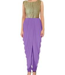 Buy purple latest indian kameez dhoti style tunic indowestern online