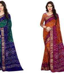 Buy Multicolor hand woven art silk saree with blouse diwali-combo-offer online
