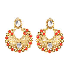 Buy Orange Pota Stone danglers-drops Woman online