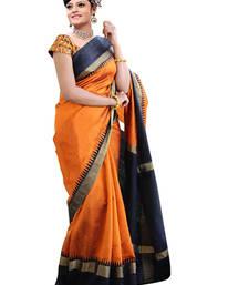 Buy Orange embroidered bhagalpuri art silk saree with blouse bhagalpuri-silk-saree online