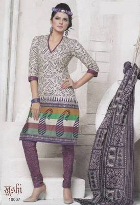 Dress Material Cotton Designer Prints Unstitched Salwar Kameez Suit D.No 10007