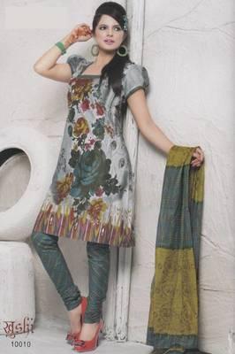 Dress Material Cotton Designer Prints Unstitched Salwar Kameez Suit D.No 10010