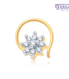 Buy Sukkhi Attractive Gold and Rhodium Plated CZ Nose Pin(36035NPCZK200) fashion-deal online