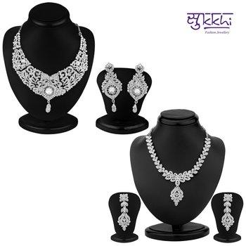 Sukkhi Luxurious 2 Piece Necklace Set Combo(198CB3300)