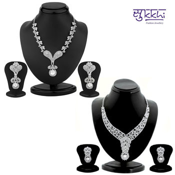Sukkhi Estonish 2 Piece Necklace Set Combo(210CB3050)