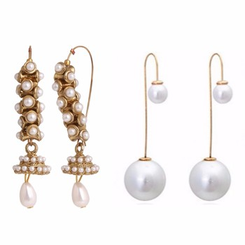 Gold  plated combo earrings