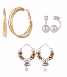 Buy Multicolor gold plated combo earrings combo-earring online