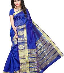 Buy Blue woven manipuri silk saree with blouse manipuri-silk-saree online