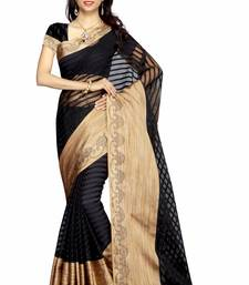 Buy Black printed bhagalpuri saree with blouse bhagalpuri-silk-saree online