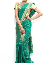 Buy Sudarshan silks sarees Wonderful Pure Mysore silk saree-Green-SSSB119-VQ-Crepe mysore-silk-saree online