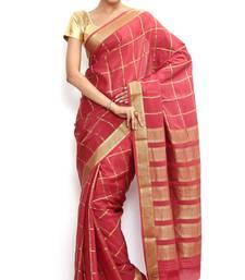 Buy Sudarshan silks Wonderful Pure Mysore silk saree-Orange-SSSB128-VQ-Crepe mysore-silk-saree online