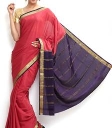 Buy Sudarshan silks Wonderful Pure Mysore silk saree-Pink-SSSB140-VQ-Crepe mysore-silk-saree online