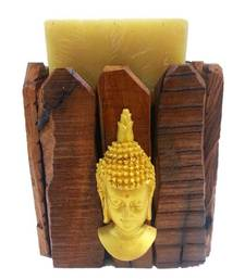 Buy Wooden Buddha Candle Holder with Candle candle online