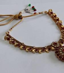 Buy Elegant Red Oval Necklace Set necklace-set online