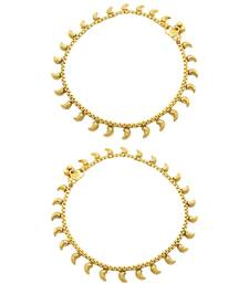 Buy Golden Traditional Payal Anklet Jewellery for Women - Orniza anklet online