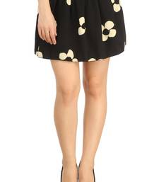 Buy N-gal:Black and Cream printed polyester and spandex casual short-skirt. Its Free Size Fits Perfectly to S-L. short-skirt online