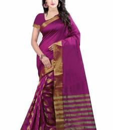Buy Purple printed bhagalpuri silk saree with blouse printed-saree online
