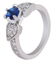 Buy Blue Diana Sterling Silver Ring for Women Ring online