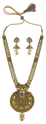 Choker Gold Plated Necklace Set