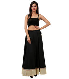 Buy Black Cotton free size skirts black-friday-deal-sale online