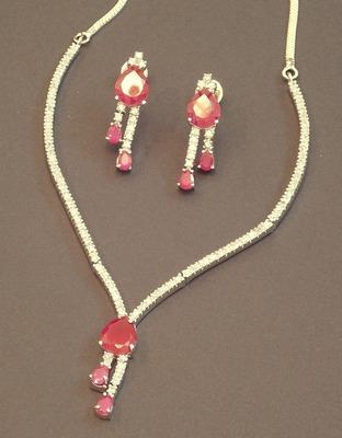 Beautiful And Elegant cz Necklace Set...