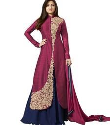 Buy Pink embroidered art silk salwar indian-dress online