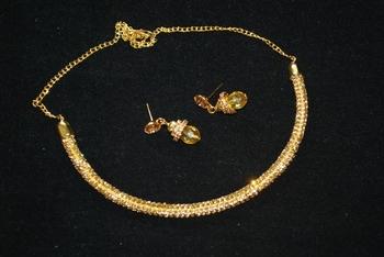 Gold Tone Sarwoski Style Choker