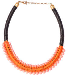 Buy Orange And Rose Color Handmade Artificial Jewellery With Metal Thread And Beads party-jewellery online
