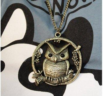 Retro Owl Neckpiece(CFN0008)