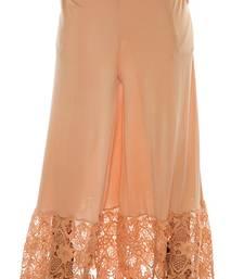 Buy Beige plain lycra fabric free size palazzo pants palazzo-pant online