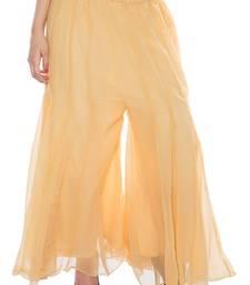 Buy Lightyellow plain chiffon fabric free size palazzo pants palazzo-pant online