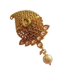 Buy Multi purpose ad zircon golden kundan saree pin brooch brooch online