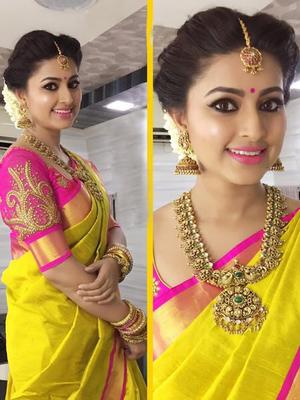 Yellow Plain   chanderi_silk saree with blouse