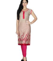 Buy Pink printed rayon kurtis kurtas-and-kurti online