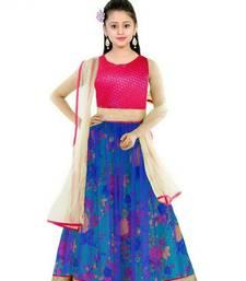 Buy RAMA  bhaglpury semi stitched lehenga with dupatta kids-lehenga-choli online