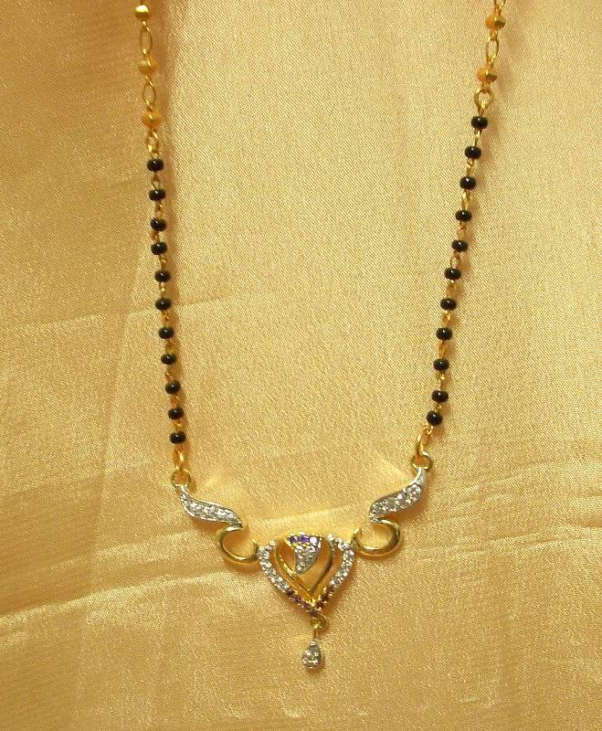 Buy Heart Shaped Ad Cz Mangalsutra Online