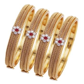 Maroon diamond bangles-and-bracelets