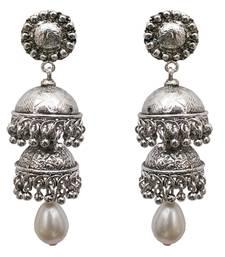 Buy Silver cubic zirconia earrings danglers-drop online