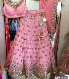 Buy Pink embroidered silk unstitched  lehenga with dupatta black-friday-deal-sale online