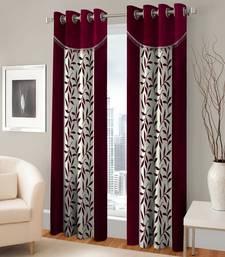 Buy Window Eyelet Maroon Curtain Set Of 2 home-furnishing online