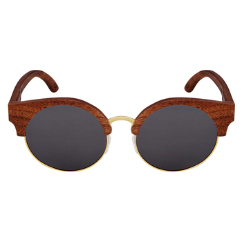Amadore Charcoal Cat eyed Wooden Sunglasses