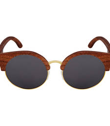 Buy Amadore Charcoal Cat eyed Wooden Sunglasses sunglass online