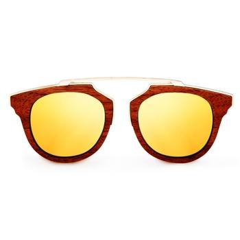 Oro Gold Retro Wooden Sunglasses