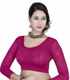 Buy Magenta solid  stretch stitched blouse readymade-blouse online