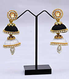Buy Black pearl earrings Earring online