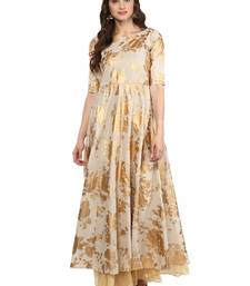 Buy Beige printed Cotton stitched kurti kurtas-and-kurti online