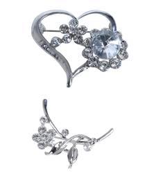 Buy Multicolor crystal brooch brooch online