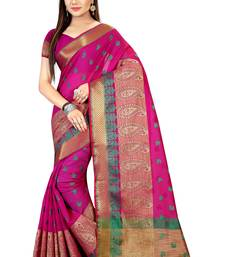 Buy Multicolor hand woven banarasi silk saree with blouse indian-dress online