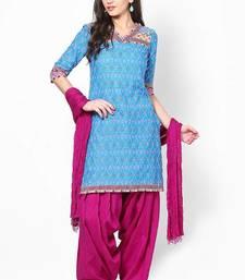 Buy Dark Pink Solid Patiala Salwar With Dupatta - PAT9 patialas-pant online