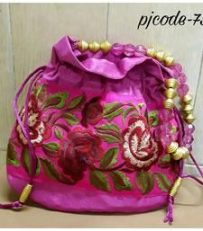 Buy Stylish pink potli bag potli-bag online